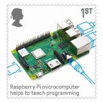 Raspberry Pi On UK Stamp
